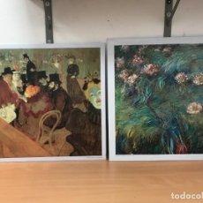 Arte: 2 LITOGAFRIAS EN LAMINAS DE CHAPA. Lote 263280550