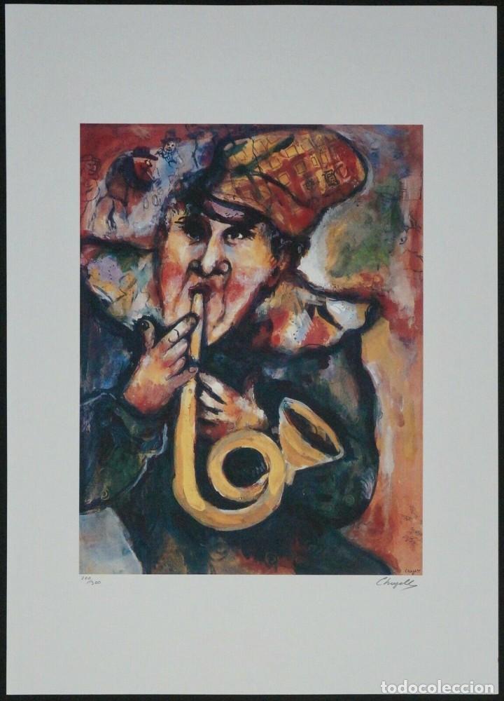 BONITA LITOGRAFIA DE MARC CHAGALL EDICION LIMITADA Y NUMERADA FIRMADA EN PLANCHA Y GRAN TAMAÑO (Arte - Litografías)