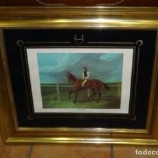 Arte: ESCENA ECUESTRE CUADRO CON LITOGRAFIA DE MATILDA PAINTED BY JOHN FREDERICK HERBING SENR. Lote 264176412