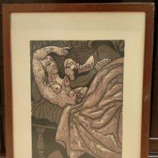 Arte: GRABADO XILOGRAFIA. RICARDO ZAMORANO. FIRMADA Y NUMERADA. ENMARCADA.. Lote 264253952