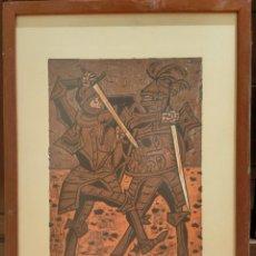 Arte: GRABADO XILOGRAFIA. RICARDO ZAMORANO. FIRMADA Y NUMERADA. ENMARCADA.. Lote 264253984
