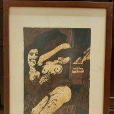 Arte: GRABADO XILOGRAFIA. RICARDO ZAMORANO. FIRMADA Y NUMERADA. ENMARCADA.. Lote 264254008
