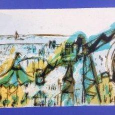 Arte: MONTESOL - LITOGRAFIA -PARQUE ATRACCIONES - 90X28CM - FIRMADA LIMITADA Y NUMERADA - 81 DE 175. Lote 267252839