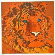 Arte: ANDY WARHOL * TIGRE SIBERIANO * LITOGRAFIA FIRMADA * LIMITADA # 36/100. Lote 267390164