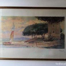 Arte: LITOGRAFÍA DEL PINTOR M. MAYORAL, FIRMADA Y NUMERADA. 1960.. Lote 267611264