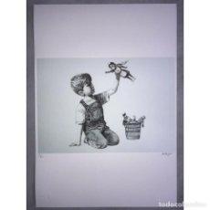 Art: BANKSY - LITOGRAFIA - 50X35 - FIRMA A MATITA TIMBRO ARTISTA. Lote 267786959
