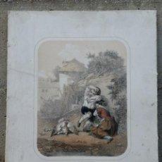 """Arte: LITOGRAFÍA DE BETTANIER, LANFANT DE METZ: """"TÉMÉRITÉ PUNIE!"""". Lote 267840739"""