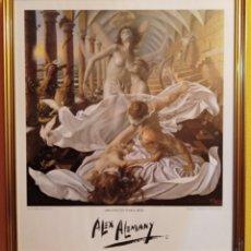 Arte: ALEX ALEMANY - LITOGRAFIA AUTORIZADA - ENMARCADA EN MADERA Y PAN DE ORO - PROYECTO PARA EL SER. Lote 268255019