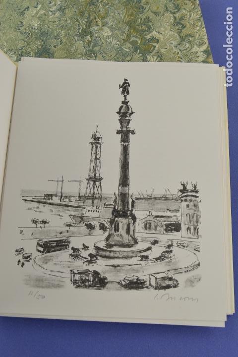 Arte: Places de Barcelona, Simó Busom, Josep Mª Cadena, 1994, litografías, edición de 60 ejemplares. - Foto 3 - 268610509