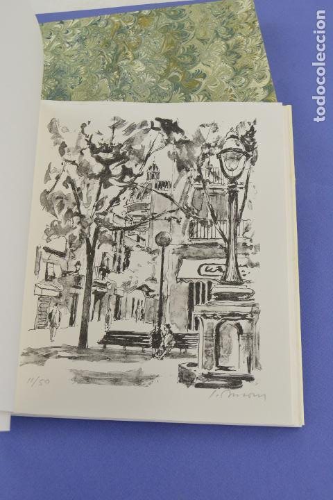 Arte: Places de Barcelona, Simó Busom, Josep Mª Cadena, 1994, litografías, edición de 60 ejemplares. - Foto 4 - 268610509
