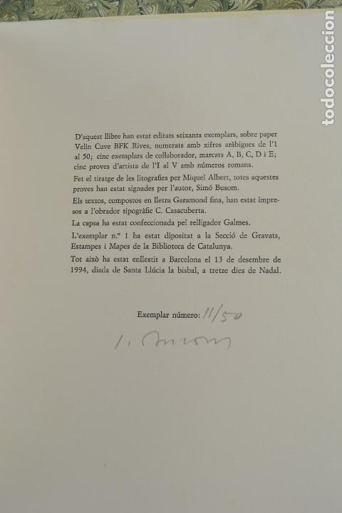 Arte: Places de Barcelona, Simó Busom, Josep Mª Cadena, 1994, litografías, edición de 60 ejemplares. - Foto 7 - 268610509