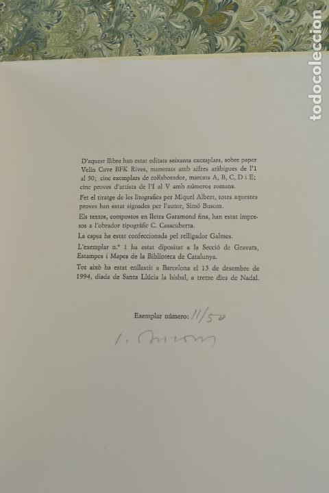 Arte: Places de Barcelona, Simó Busom, Josep Mª Cadena, 1994, litografías, edición de 60 ejemplares. - Foto 8 - 268610509