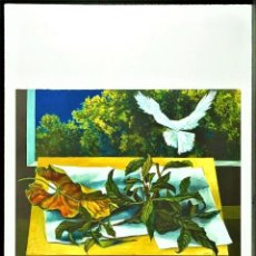 Arte: LITOGRAFIA FIRMADA - RENATO GUTTUSO * HOJAS DE NÍSPERO Y PALOMA * LIMITADA # 2/50. Lote 268772724