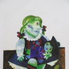 "Arte: PICASSO ""MAYA WITH DOLL"". GICLEE. COLECCION DOMAINE PICASSO. FIRMADO A LAPIZ. CERTIFICADO. Lote 268833204"