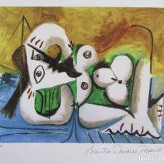 "Arte: PICASSO. ""RECLINING NUDE"". GICLEE. COLECCION DOMAINE PICASSO. FIRMADA Y CERTIFICADA.. Lote 268833969"