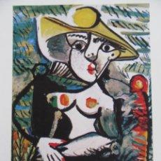 "Arte: PICASSO.""NUDE WOMAN ON CHAIR"". COLECCION DOMAINE PICASSO. FIRMADA A LAPIZ Y CERTIFICADA.. Lote 268835369"