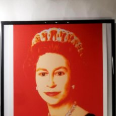 Art: ANDY WARHOL - QUEEN ELIZABETH II - LITOGRAFÌA EDT LIMT Nº 35 DE 150,FIRMADA Y NUMERADA,TAMAÑO 55X35. Lote 268903114