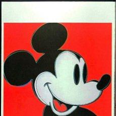 Arte: ANDY WARHOL - MICKEY MOUSE -LITOGRAFÌA EDT LIMT Nº 54 DE 150,FIRMADA Y NUMERADA,TAMAÑO 55 X 35 CM. Lote 268903484