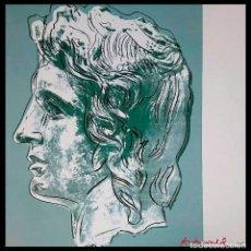 Arte: ANDY WARHOL - ALEJANDRO MAGNO - LITOGRAFÌA EDT LIMIT Nº 901 DE 2400,-RUBIO -FIRMADA Y NUMERADA,TAMAÑ. Lote 268903654