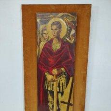 Arte: LITOGRAFÍA - SAN JORGE - LÁMINA SANT JORDI - J. OBIOLS - ANCHO - 26 CM, ALTURA - 89,5 CM - AÑO 1951. Lote 269102383