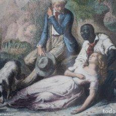 Arte: MORT DE VIRGINIE - TURGIS - CASSE FRERES LITH.. Lote 269122718