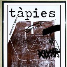 Arte: TAPIES ANTONI.MONOTYPE. CARTEL LITOGRÁFICO ORIGINAL. EXPOSICIÓN GALERÍA MAEGHT.AÑO 1974.74X50 CMS.. Lote 269172433