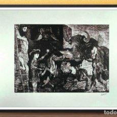 Arte: PABLO PICASSO. MINOTAUROMAQUIA.LITOGRAFIA EDIT LIMIT Nº 53 DE 200,1981-EDT FUNDACION P.PICASSO-70X50. Lote 269177898