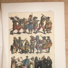Arte: CROMOLITOGRAFIA TRAJES MILITARES Y SACERDOTALES DEL SIGLO XVII.. Lote 269839923