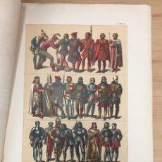 Arte: CROMOLITOGRAFIA TRAJES CIVILES Y MILITARES DE LOS ALEMANES DEL SIGLO XV. EDAD MEDIA. Lote 269840748