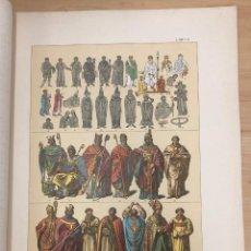 Arte: CROMOLITOGRAFIA TRAJES DE FUNCIONARIOS Y DIGNIDADES DE LA IGLESIA CATOLICA HASTA EL AÑO 1500. Lote 269841013