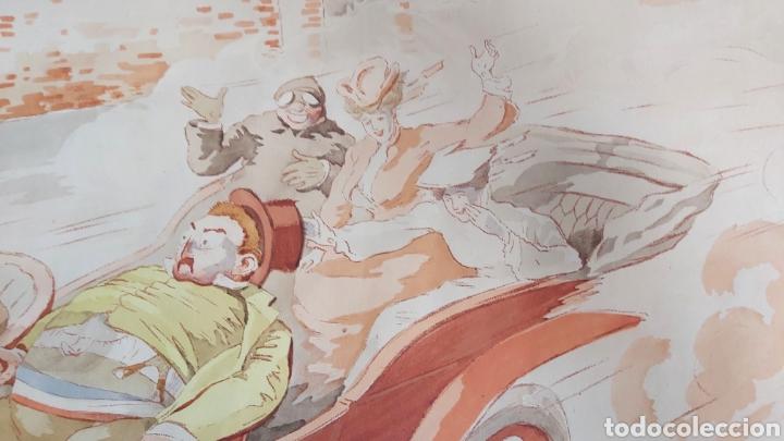 Arte: ERNEST MONTAUT (FRANCIA 1879-1909) LITOGRAFIA TÉCNICA POCHOIR - Foto 3 - 270877593
