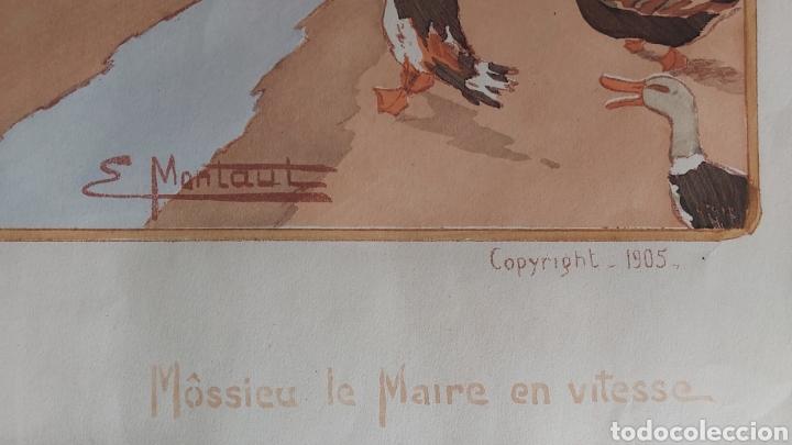 Arte: ERNEST MONTAUT (FRANCIA 1879-1909) LITOGRAFIA TÉCNICA POCHOIR - Foto 6 - 270877593
