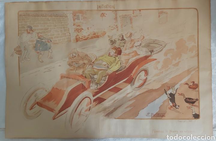 Arte: ERNEST MONTAUT (FRANCIA 1879-1909) LITOGRAFIA TÉCNICA POCHOIR - Foto 7 - 270877593