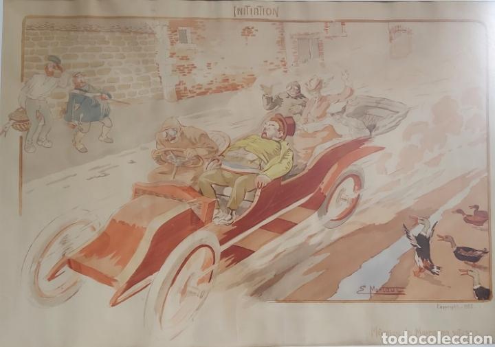 Arte: ERNEST MONTAUT (FRANCIA 1879-1909) LITOGRAFIA TÉCNICA POCHOIR - Foto 8 - 270877593
