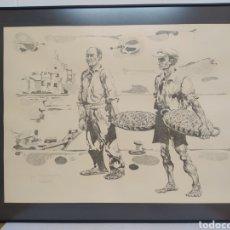Arte: LOTE 2 LITOGRAFIAS DE JULIAN BORREGUERO (SEGOVIA 1937) , ROSES PESCA DE ARRASTRE. Lote 271381803