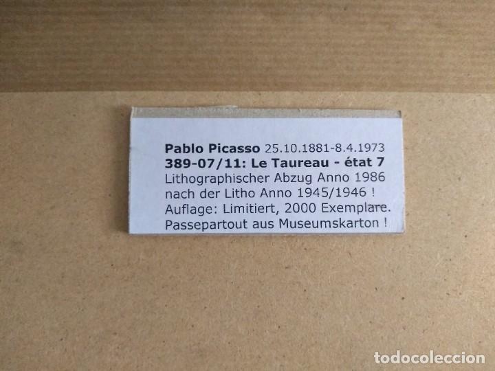 Arte: PRECIOSA LITOGRAFIA DE PICASSO EDICION LIMITADA A SOLO 2000 PIEZAS Y ENMARCADA - Foto 2 - 274188068