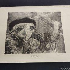 Arte: LITOGRAFIA OFFSET ALBOKALARI PEDRO SANTAMARTA 1/500 FIRMADA Y NUMERADA LEON BILBAO PAIS VASCO ALBOKA. Lote 275534693