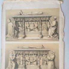Arte: SEPULCROS DE D ALVARO DE LUNA Y SU MUJER. VILLA AMIL, G P. 1843. ESPAÑA ARTÍSTICA Y MONUMENTAL. Lote 275730493
