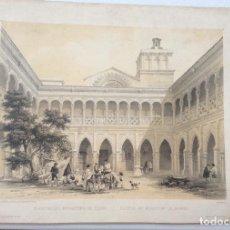 Arte: CLAUSTRO DEL MONASTERIO DE HUERTA, SORIA. VILLA-AMILL 1842. ESPAÑA ARTÍSTICA Y MONUMENTAL.. Lote 275733353