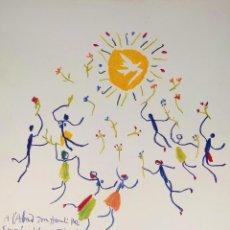 Arte: LA DANZA DE LA JUVENTUD. LITOGRAFÍA A COLOR. REPRODUCCIÓN DEL ORIGINAL DE PICASSO. ESPAÑA. XX. Lote 276255148