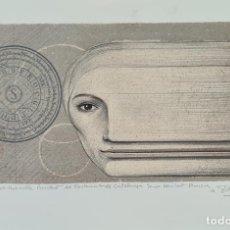 Arte: ABSTRACTO. JOSEP MARIA SUBIRACHS. LITOGRAFIA SOBRE PAPEL. DEDICADA. 1984.. Lote 276464723