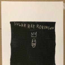 """Arte: JEAN-MICHEL BASQUIAT. LITOGRAFÍA """"SUGAR RAY ROBINSON"""" (1981) NUMERACIÓN A LÁPIZ 37/250. SELLO. Lote 276588278"""