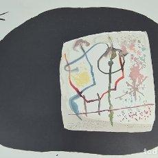 Arte: ABSTRACTO. JOAN MIRÓ. LITOGRAFIA SOBRE PAPEL. DEDICADO. 1986.. Lote 276648418