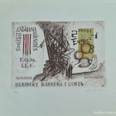 Arte: SOCIEDAD CATALANA GENCIES. JORDI VILA RUFAS. LITOGRAFIA SOBRE PAPEL. 1982.. Lote 276665978