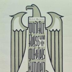 Arte: DIOPLOMA DE LA ESCUELA ALEMANA DE BARCELONA A HERIBERT BARRERA. 1935.. Lote 276673023
