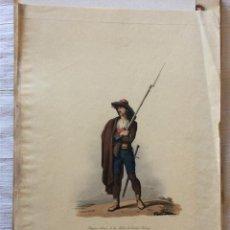 Arte: MILICIANO DE CIUDAD RODRIGO(SALAMANCA)LITOGRAFÍA INGLESA SIGLO XIX-1809. Lote 276687893