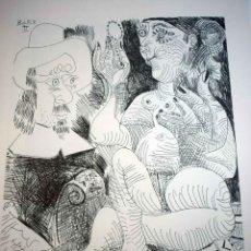 Arte: PABLO PICASSO - LITOGRAFIA 70 X 50 CM. FIRMADA EN PLANCHA. Lote 276784308