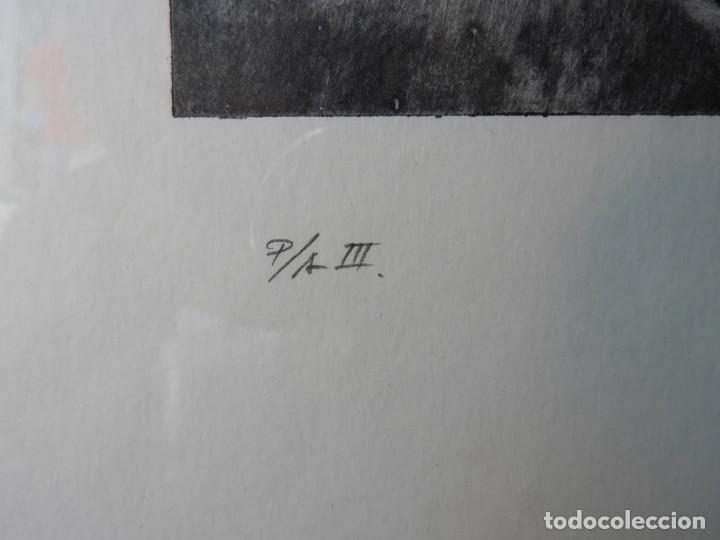 Arte: LITOGRAFIA DE PINTOR ARAGONES PA/3 EN EL UMBRAL - Foto 2 - 276990103