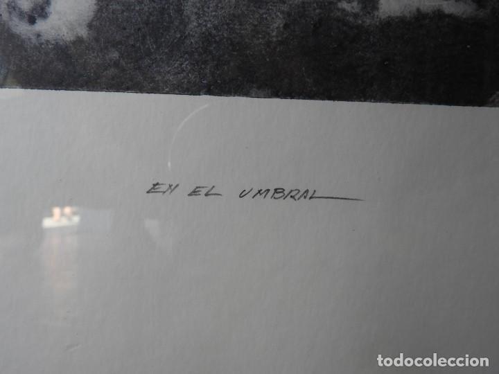 Arte: LITOGRAFIA DE PINTOR ARAGONES PA/3 EN EL UMBRAL - Foto 3 - 276990103