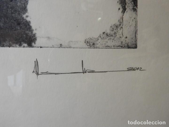 Arte: LITOGRAFIA DE PINTOR ARAGONES PA/3 EN EL UMBRAL - Foto 4 - 276990103